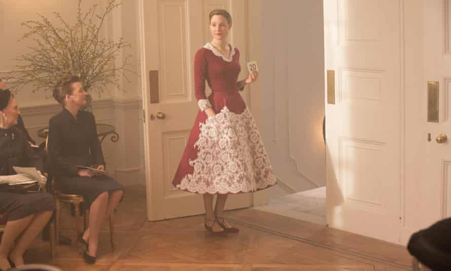 Lesley Manville, seated left, and Vicky Krieps in Phantom Thread.