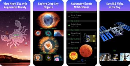 Screenshots from Star Walk app