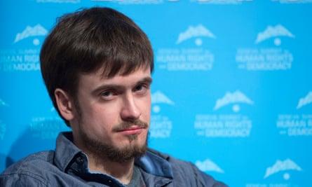 Pussy Riot activist Pyotr Verzilov.