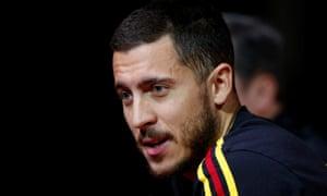 Eden Hazard talks to the media on Monday ahead of Belgium's friendly match against Saudi Arabia.