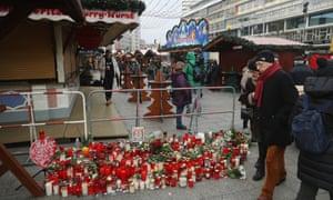 A memorial to victims at the Breitscheidplatz Christmas market.