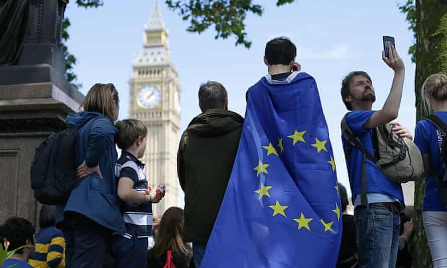 A pro-EU campaigner in London.