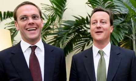James Murdoch and David Cameron