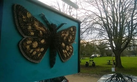 The Chequered Skipper pub sign