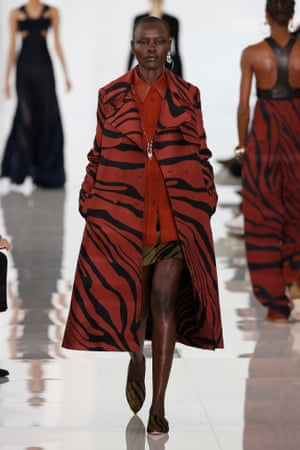 Roberto Cavalli's modernised and streamlined chic.