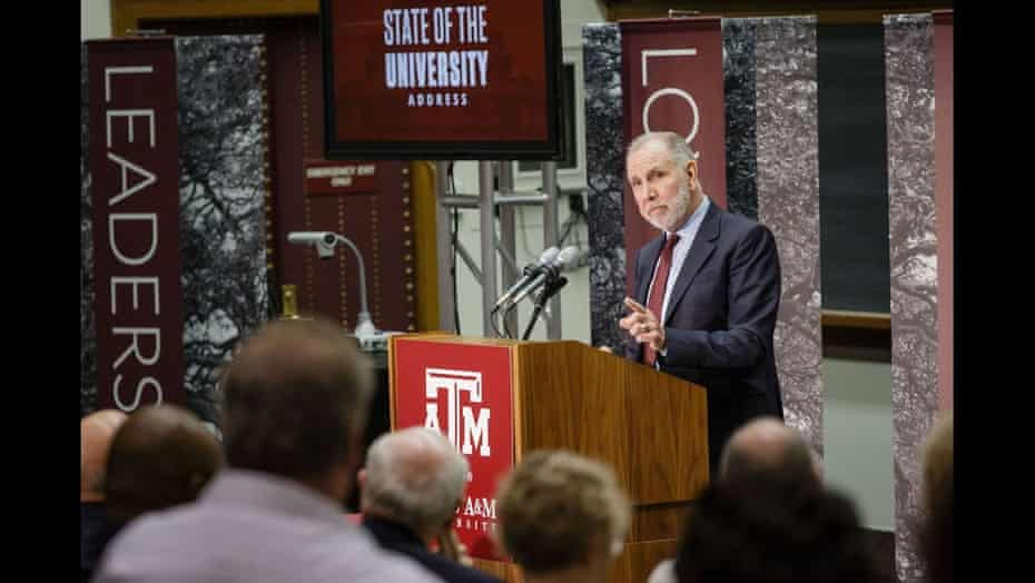 Michael K Young, president of Texas A&M University.