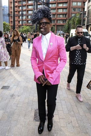 Billy Porter at House of Holland's show at London fashion week spring/summer 2020