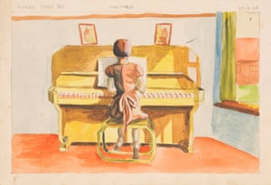 One of the many paintings now in the Wellcome archive in London. Audrey painted this one aged 14.