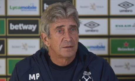 West Ham manager Manuel Pellegrini denies being angry over leaked teams