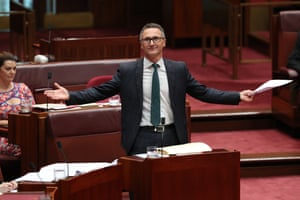 Greens leader Richard Di-Natalie during question time in the senate