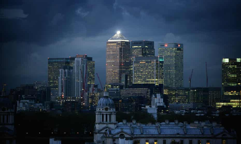Clouds over Canary Wharf
