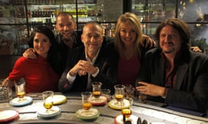 Tried tasters ... Stacie Stuart, Fred Sirieix, Michel Roux Jr, Lucy Alexander and Jay Rayner.