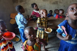 In most circumstances, the only meal children receive for the entire day is at school. Here children take a break from learning to enjoy their lunch