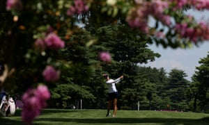 Jessica Korda in action at the Kasumigaseki country club.