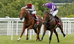 The Gurkha, right, under Ryan Moore, holds off Galileo Gold in a thrilling finish to the Sussex Stakes at Glorious Goodwood.