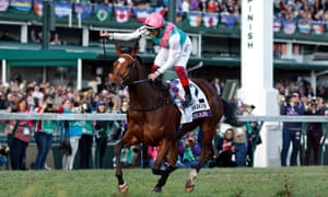 Enable and Frankie Dettori winning the Breeders' Cup Turf at Churchill Downs