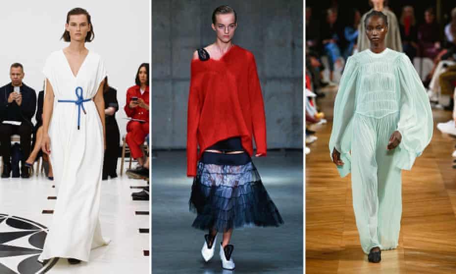 Designs by Victoria Beckham, Christopher Kane and Stella McCartney.