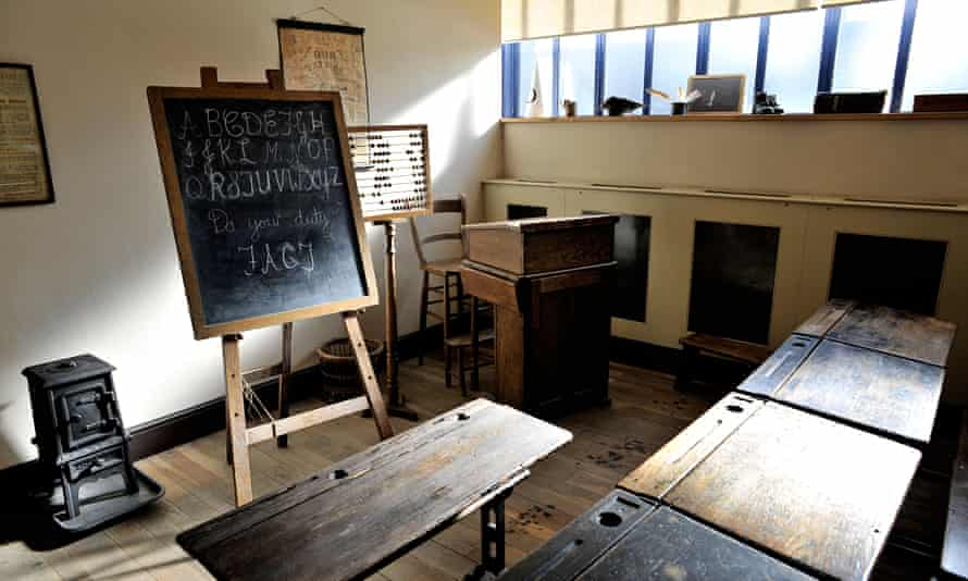 Victorian Classroom from the Radstock Museum in Somerset.