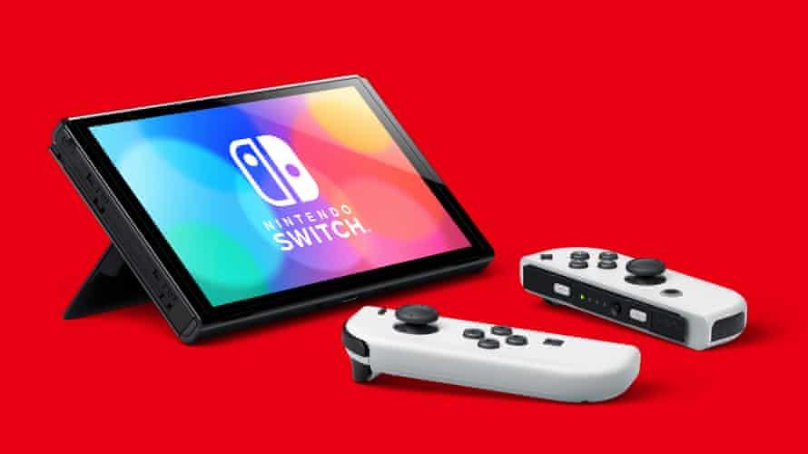 New kid on the block … Nintendo Switch OLED.