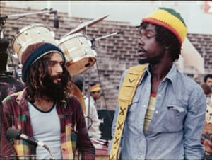 Peter Tosh, a man of zany flamboyance, with photographer Lee Jaffe.