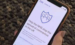 NHS contact tracing app on a mobile phone