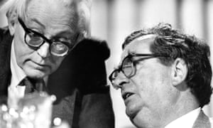 Michael Foot (left) and his deputy Denis Healey, Labour Party conference, Blackpool, 1982.