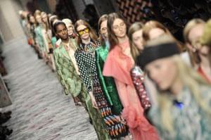 Gucci catwalk show in Milan, September 2015