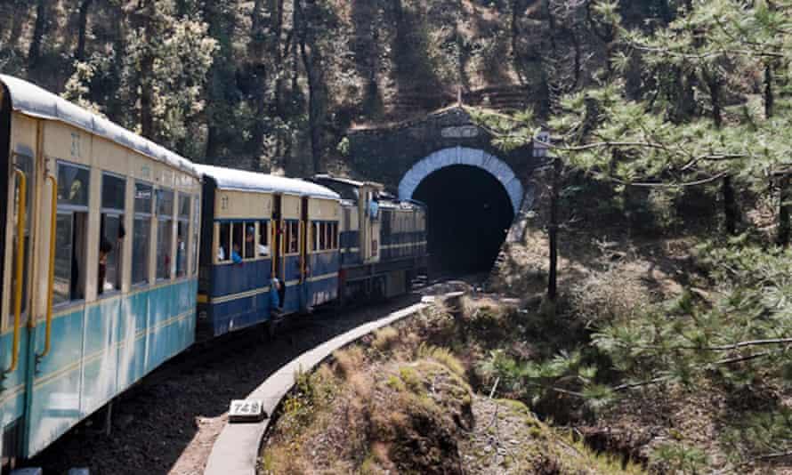 The Kalka to Shimla 'toy train' route.