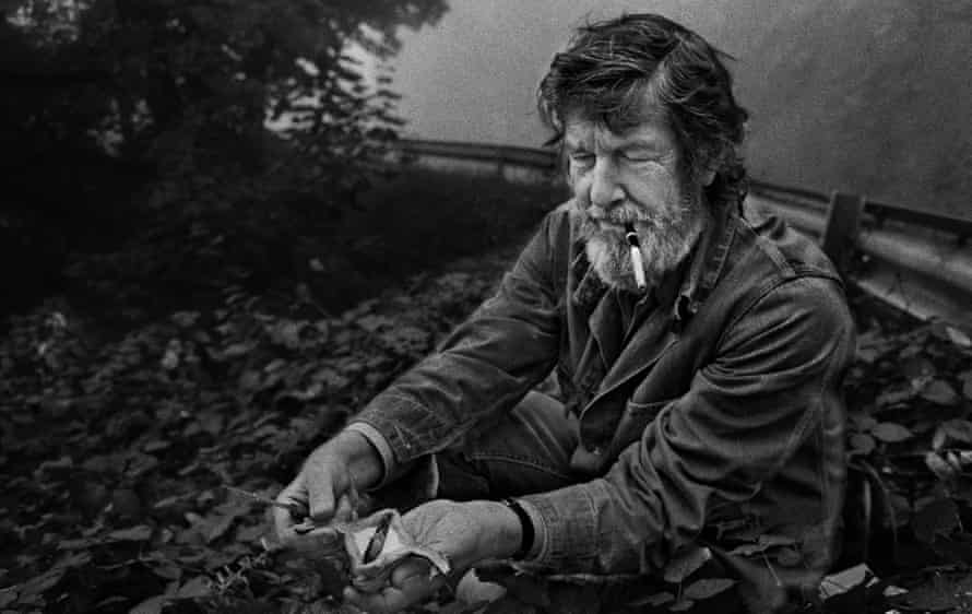 John Cage foraging for mushrooms in 1971