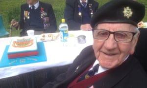 Normandy veteran Ted Edwards
