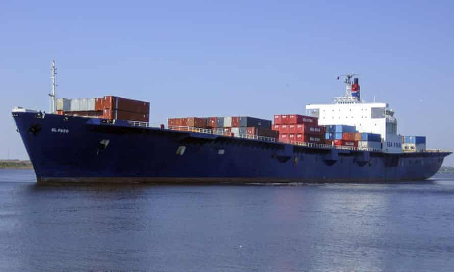 The 735ft (224m) El Faro which sank off the coast of the Bahamas in October.