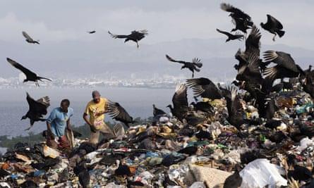 Garbage dump in Brazil