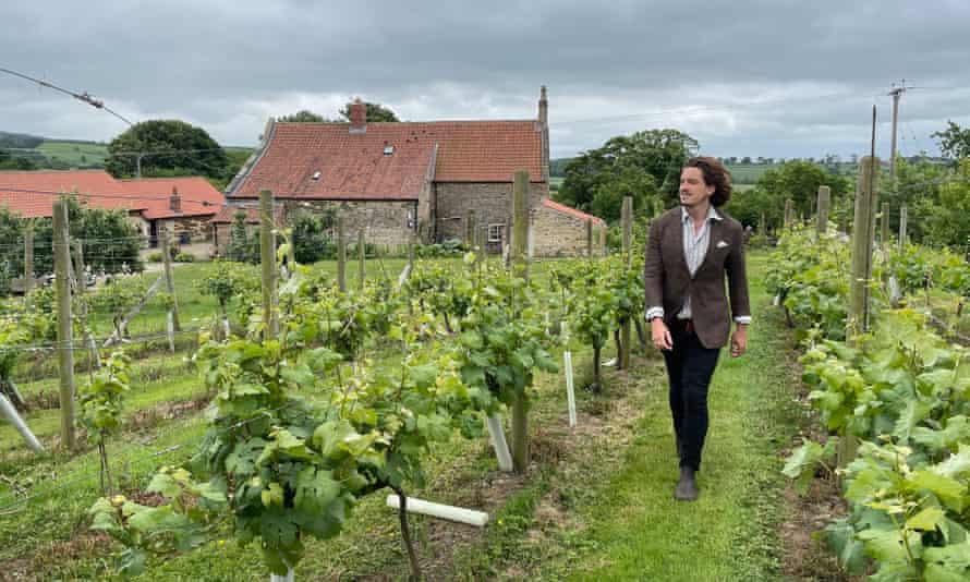 Writer Damien Gabet on his vineyard tour.