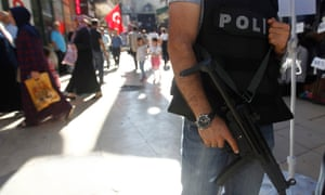 Turkish police secure the area in front of Grand Bazaar in Istanbul