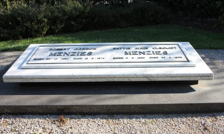 The grave of Robert and Pattie Menzies