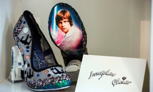 The Jimmy Choo Cinderella shoe, with Swarovski crystals and Luke skywalker