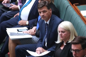 Angus Taylor during question time in parliament