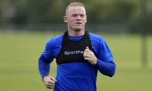Wayne Rooney trains on Monday with Everton for the first time since rejoining from Manchester United.