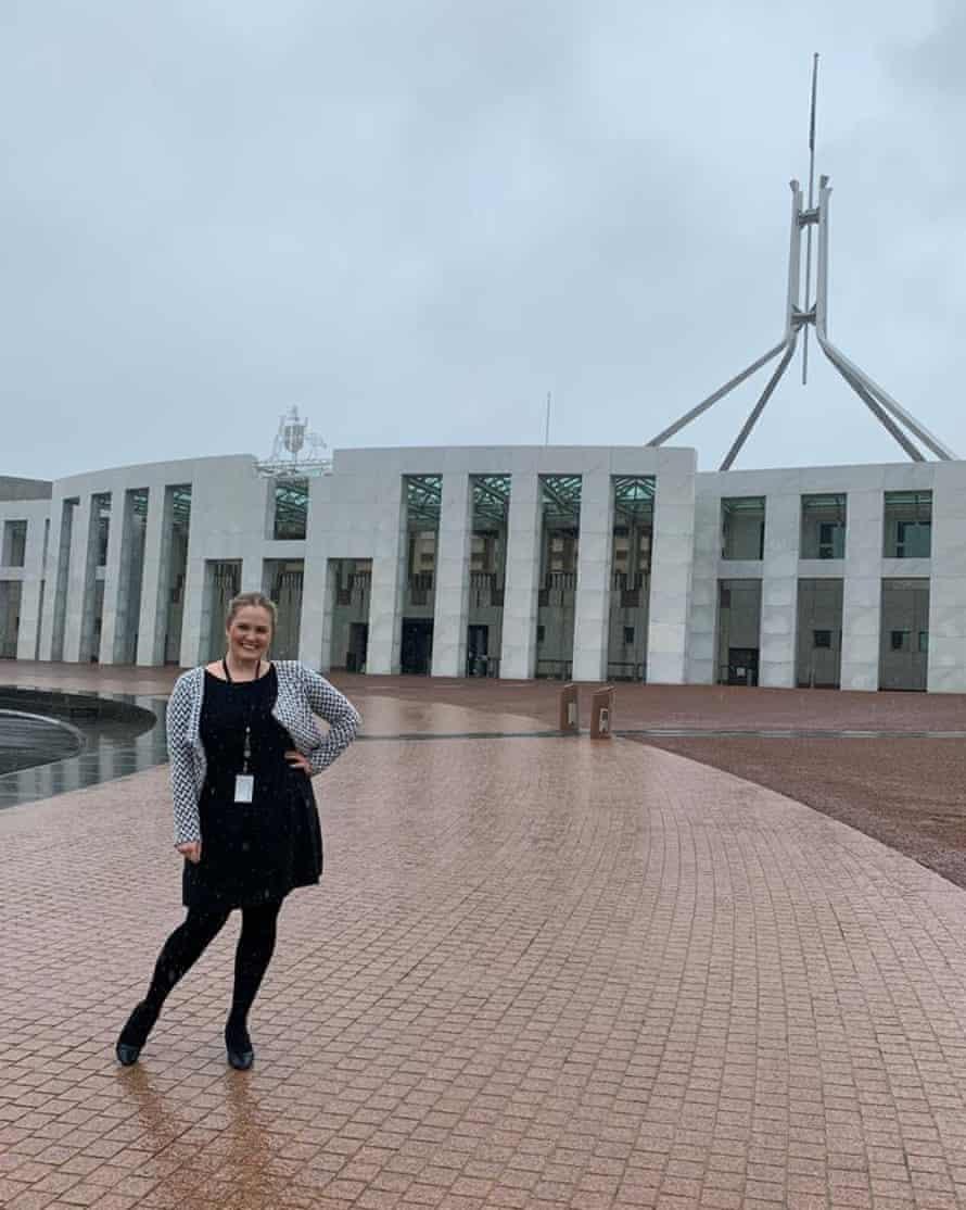 Josie Coles outside Parliament House