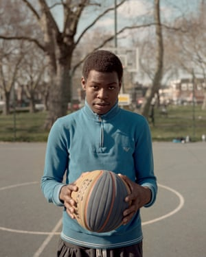 Jack Smethers - Jaiden From the series White Hart Lane April 2019 In the ongoing series White Hart Lane, British photographer Jack Smethers returned to Tottenham, the north London district where he spent his childhood years. His aim was to address the evolution of one of Britain's most diverse communities following the 2011 Tottenham riots and the area's gentrification after the redevelopment of the Tottenham Hotspur football stadium. While researching the project he contacted local activist Hesketh Benoit, who promotes access to sport in a safe environment as an alternative to violence for the young people of Tottenham. Through Benoit, Smethers was introduced to basketball player Jaiden, a 'sharp and talented young black man who is often overlooked in the media's portrayal of inner city London youth'.