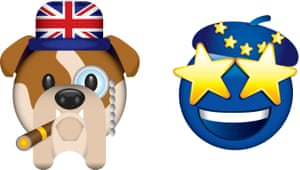 The Brexit and Remain emojis.