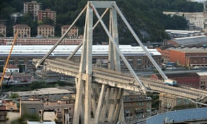 The Morandi bridge in Genoa
