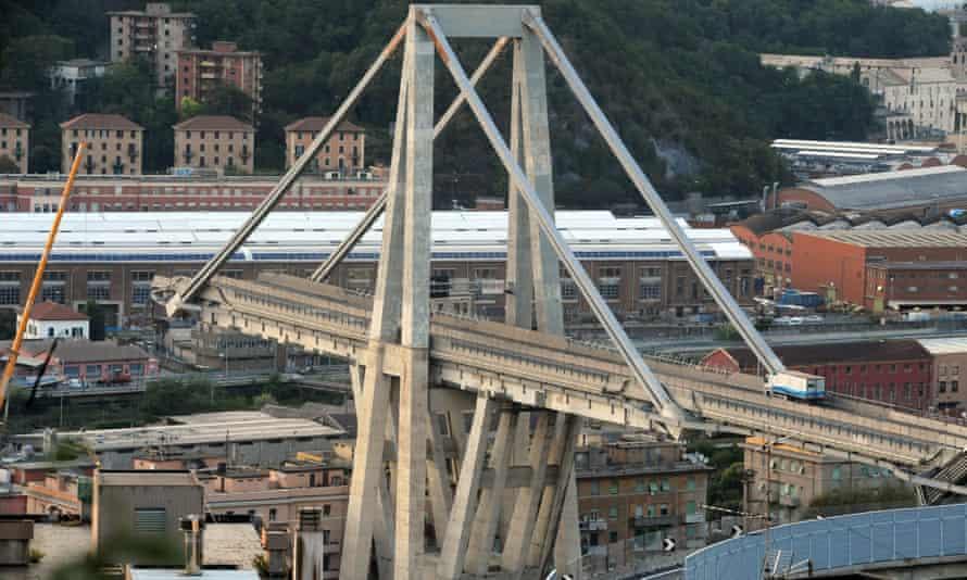 The Morandi bridge in Genoa