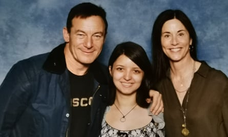 'The admiral's words gave me strength' ... Letitia with Star Trek Discovery's Jason Isaacs and Jayne Brook.