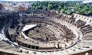 The Colosseum was built for 50,000 spectators – a testament to Rome's grander past, built almost two millennia ago.