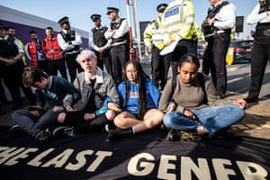 Young activists protesting at Heathrow