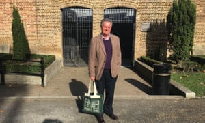 London historian Jerry White next to the surviving Marshalsea prison wall in St George's Gardens, SE1.