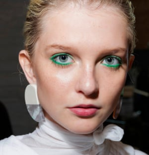 'Coloured eyeliner offers a joyous alternative to black': as seen at Cividini SS19.