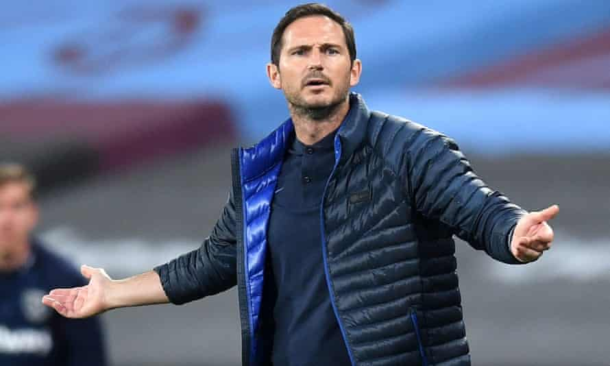Frank Lampard upset by Chelsea's performance against West Ham