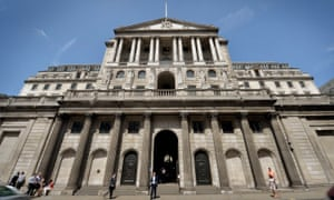 The Bank of England building in the City of London